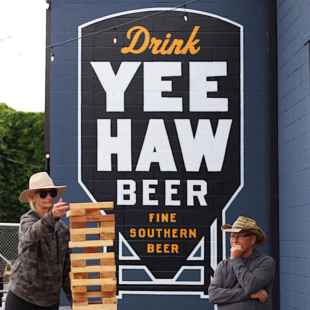 Fun and Games at Ole Smoky Yee-Haw Beer Garden