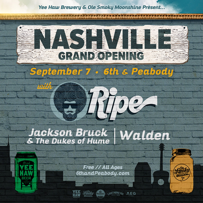 Nashville Grand Opening | Saturday, September 7th | Ripe